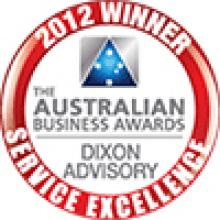 The Australian Business Awards - 2012 Winner - Service Excellence - Dixon Advisory