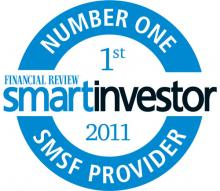 No.1 SMSF Provider 2011 - Smart Investor Awards